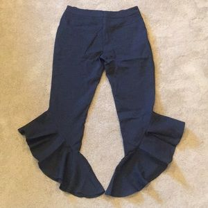 Pants - [NEW] Scalloped Black Trousers